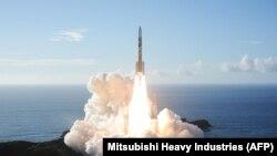 کاوشگر بدون سرنشین «امید» متعلق به امارات متحده عربی که ماه ژوئیه از مرکز فضایی تانهگاشیما در ژاپن به مقصد مریخ پرتاب شد.