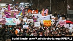 The march in Kyiv on March 8.