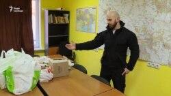 На базі полку «Київ» збирають допомогу для евакуйованих мешканців Авдіївки (відео)