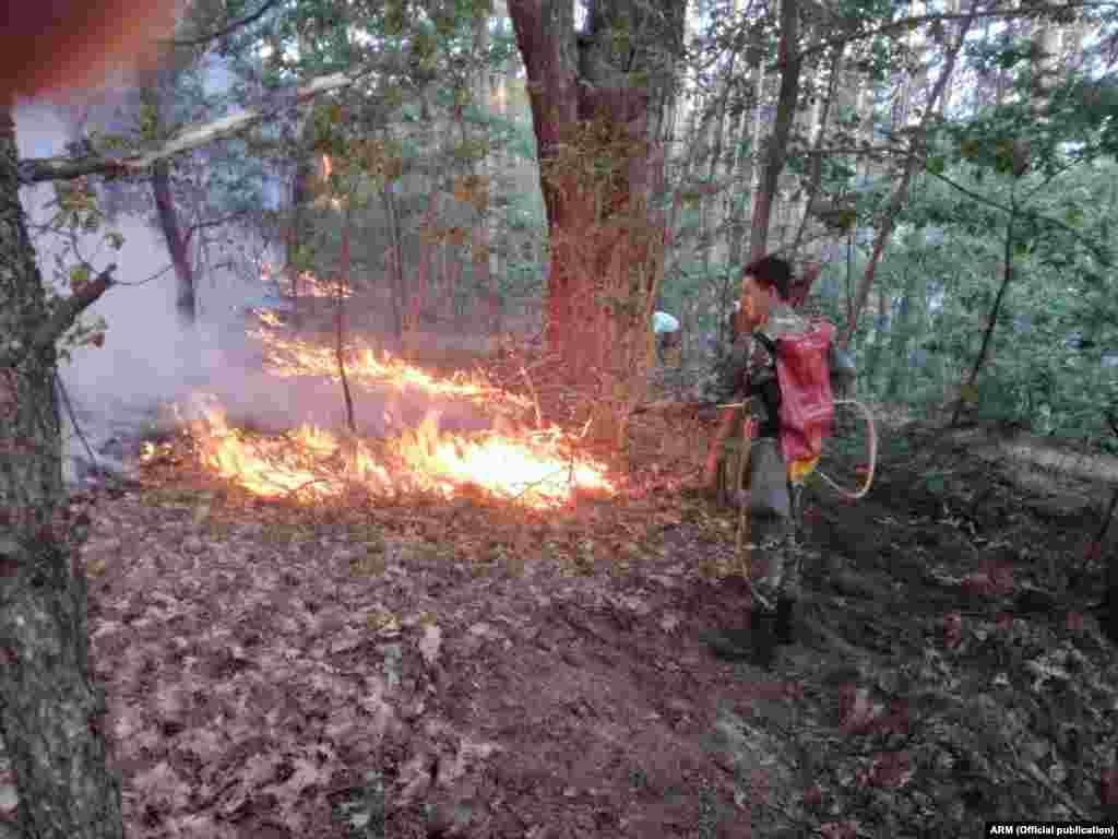 Армијата се вклучи во гаснењето на пожарите во Македонија