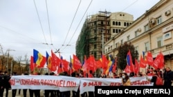 Moldova - Chișinău, mitingul socialiștilor în sprijinul lui Igor Dodon, înainte de al doilea tur al prezidențialelor. Vineri, 13 noiembrie, 2020