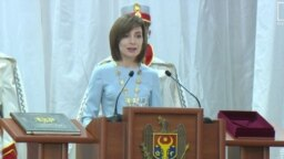 Președinta Maia Sandu vorbind la inaugurare. Chișinău, 23 decembrie 2020