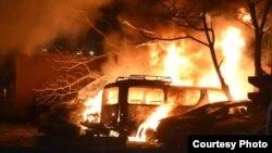 عکس از آتشسوزی در نزدیکی هتل میزبان سفیر چین در کویته پاکستان