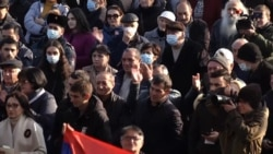 Thousands Gather Outside Armenian Parliament, Amid Heavy Security, To Demand PM Resign