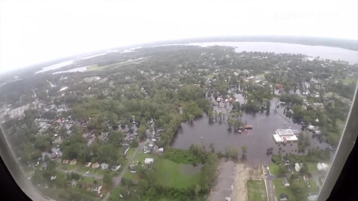Последствия шторма «Флоренс» в США – видео