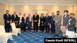 ملاقات مایک پومپیو با اعضای هیئت گفتوگو کننده حکومت افغانستان در قطر