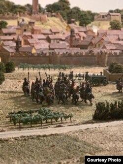 Диорама битвы при Нови, устроенная в этом городе в 2017 году
