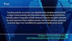 Azərbaycanda koronavirus xəbərdarlığı