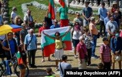 Proteste în fața Parlamentului de la Sofia în ziua dezbaterii moțiunii de cenzură