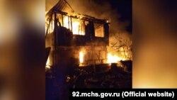 Пожар в Севастополе, 12 мая 2021