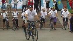 Велопробег незрячих от Алматы до Иссык-Куля