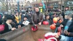 Шахтарі перекрили вулицю Хрещатик