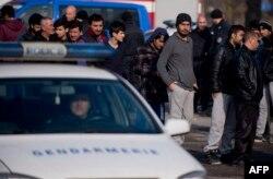 Migranți la granița Turciei cu Bulgaria (arhivă)