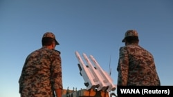 IRAN -- Missiles are seen during a military drill, with the participation of Iran's Air Defense units, October 18, 2020