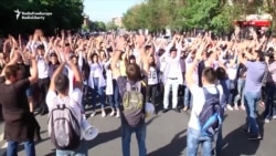 Students Block Streets In Armenian Capital