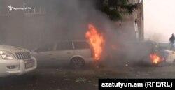 Наслідки обстрілу міста Степанакерт, Нагірний Карабах, 4 жовтня 2020 року