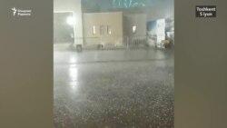 В Ташкенте прошли сильный дождь и град