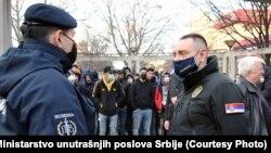 Aleksandar Vulin je ministar policije od oktobra prošle godine, do kada je vodio resor odbrane. Na fotografije tokom posete Preševu, na jugu Srbije, 5. februara 2021.