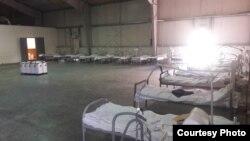 Мурдагы «Ганси» авиабазасында ачылган оорукананын реанимация бөлүмү. Июль, 2020-жыл.