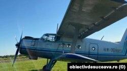 Avionul de tip AN-2 folosit de traficanții de țigări și capturat de autoritățile ucrainene după un zbor ilegal în România.