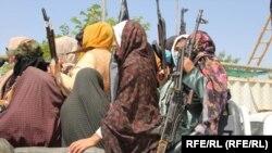 """Ооганстандагы """"Талибанга"""" каршы чыккан жергиликтүү аялдар."""