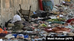 Belongings left at the site of the August 26 bomb attack on Kabul airport that was claimed by Islamic State in Khorasan and which killed scores of people.