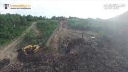 Гигантский оползень на свалке в Львове: под завалами может находиться четверо человек