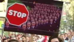 Protest anti-Orbán la Budapesta