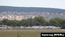 Авиапарк предприятия «Универсал-Авиа» на территории аэропорта «Заводское»