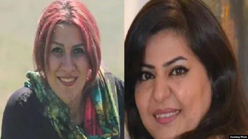 تصویر سمت راست متعلق به نگین تدریسی و تصویر سمت چپ مربوط به سوفیا مبینی دو شهروند بهایی است که به حبس محکوم شدهاند