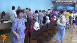 Киев сайлау учаскелеріндегі кезек