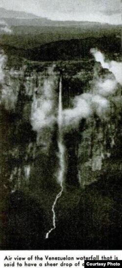 Первое сообщение о водопаде Анхель. Журнал Popular Science, апрель 1939