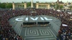 Демонстрация в Будапеште в защиту Центрально-Европейского университета