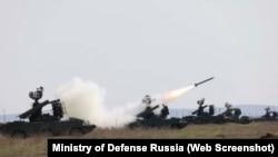 Навчання на полігоні Опук. Фото Міністерства оборони Росії