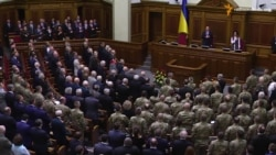 Ветерани Червоної армії, УПА та АТО на урочистому засіданні парламенту