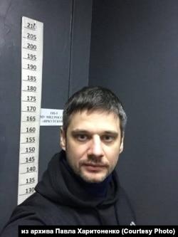 Павел Харитоненко в отделении полиции