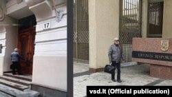 Мнимият Пригожин пред Министерството на транспорта на Литва
