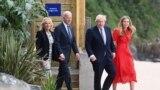 АКШ президенти Жо Байден жана Британиянын премьер-министри Борис Жонсон жубайлары менен.