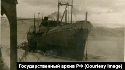 "Пароход ""Джурма"", на котором возили заключенных"