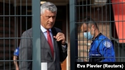 Kosovar President Hashim Thaci at The Hague.