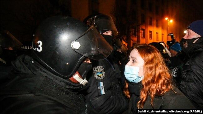 Протесты у здания Офиса президента в Киеве. 23 февраля 2021 года