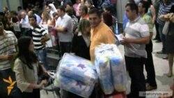 Рейсом Алеппо-Ереван в Армению прибыла очередная группа сирийских армян