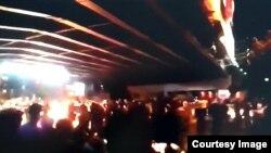 اعتراضات شامگاه گذشته در کرج