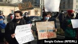Protest la Chișinău împotriva arestării lui Alexei Navalnîi