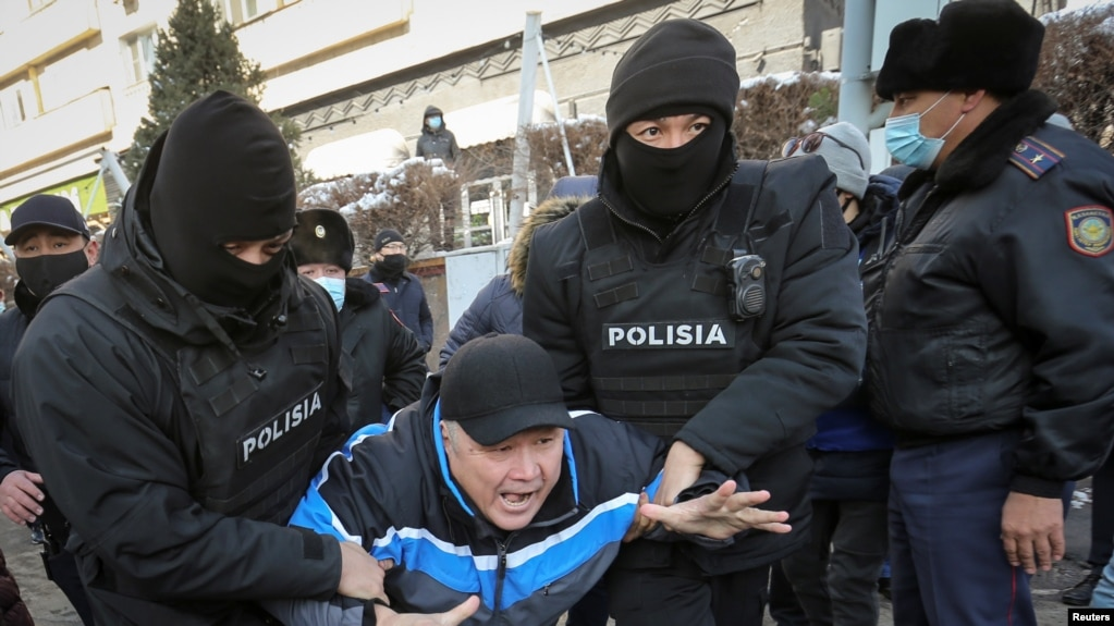 Задержания в день митингов в городах Казахстана, к которым призвало также движение «Демократический выбор Казахстана». 28 февраля 2021 года.