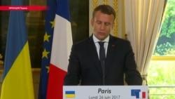 """""""Формула Макрона"""": Порошенко рассказывает, о чем договорился с президентом Франции по Донбассу"""