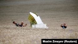 Фрагмент збитого літака