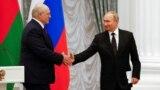 Аляксандар Лукашэнка і Ўладзімір Пуцін 9 верасьня ў Маскве