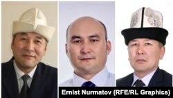Назарбек Нышанов, Кубан Чороев жана Арстанбек Абдылдаев.