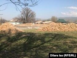Фундамент будущего дома в селе Багыс. 7 апреля 2021 года.